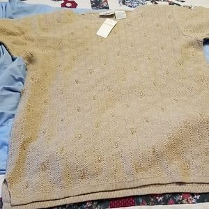 Worthington sweater with shoulder pads